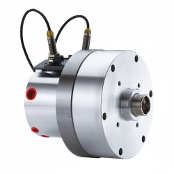 Compact style Rotary Hydraulic Cylinder with Air Connection and Safety Device