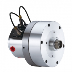 Compact style Rotary Hydraulic Cylinder with Coolant Connection and Safety Device